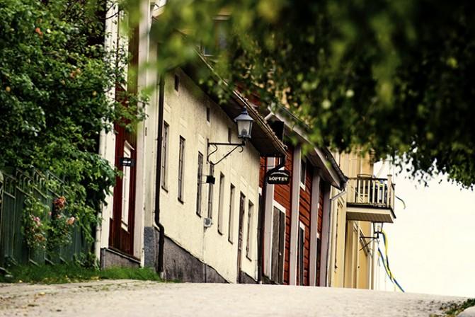 The wooden town in Bergslagen