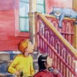 Visar bild ur boken Hanna, Hugo och Huskatten av Jens Ahlbom